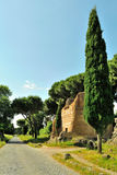 Οδός Antica Appia στη Ρώμη Στοκ εικόνες με δικαίωμα ελεύθερης χρήσης