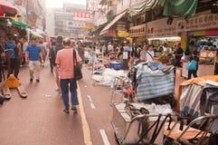 Οδός Apliu Χονγκ Κονγκ - παζαριών στοκ εικόνες