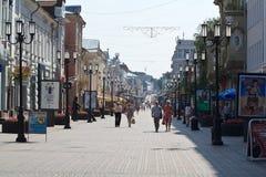 Οδός Bolshaya Pokrovskaya σε Nizhny Novgorod Στοκ Φωτογραφίες