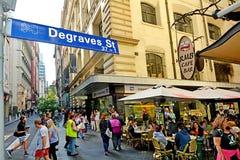Οδός Degraves - Μελβούρνη Στοκ Φωτογραφία