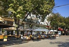 Οδός Deribasivska στην Οδησσός Ουκρανία Στοκ Εικόνες