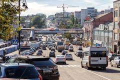 Οδός Dzerzhinsky Kursk Ρωσία Στοκ φωτογραφίες με δικαίωμα ελεύθερης χρήσης