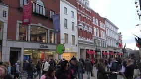 Οδός Grafton στο Δουβλίνο απόθεμα βίντεο