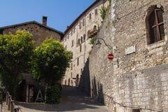 Οδός Gubbio, Ουμβρία, Ιταλία Στοκ Εικόνες