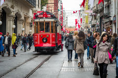 Οδός Istiklal Στοκ Φωτογραφία