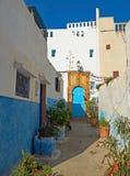 Οδός Kasbah του Udayas στη Rabat, Μαρόκο Στοκ Φωτογραφίες