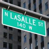 Οδός LaSalle, Σικάγο Στοκ Φωτογραφία