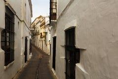 Οδός LD στην ευρωπαϊκή πόλη arcos de frontera Λα Στοκ Εικόνες