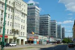 Οδός Marcin Sw στο Πόζναν, Πολωνία Στοκ Φωτογραφία