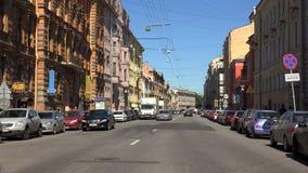 Οδός Millionnaya Άγιος-Πετρούπολη 4K απόθεμα βίντεο