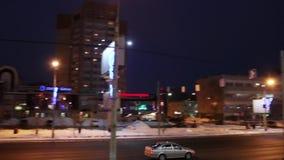 Οδός Popova, αυτοκίνητα και κρύσταλλο παγόβουνων εμπορικών κέντρων φιλμ μικρού μήκους