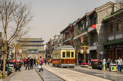 Οδός Qianmen στο Πεκίνο, Κίνα Στοκ Φωτογραφίες