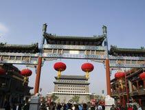 Οδός Qianmen Στοκ φωτογραφία με δικαίωμα ελεύθερης χρήσης