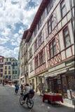 Οδός rue Argentiere Bayonne Aquitaine, Γαλλία στοκ εικόνες