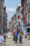Οδός rue de Ησπανία Bayonne Aquitaine, Γαλλία στοκ φωτογραφίες