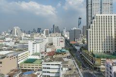 Οδός Silom στο κέντρο της πόλης της Μπανγκόκ Στοκ φωτογραφίες με δικαίωμα ελεύθερης χρήσης