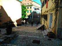 Οδός Solomou Dionisiou Στοκ φωτογραφία με δικαίωμα ελεύθερης χρήσης