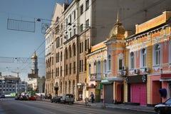 Οδός Sumska (Sumskaya) σε Kharkov Ουκρανία Στοκ Φωτογραφίες