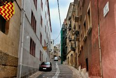 Οδός Tarragona Ισπανία Στοκ εικόνα με δικαίωμα ελεύθερης χρήσης