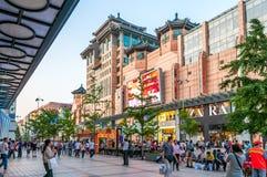 Οδός Wangfujing Στοκ Φωτογραφίες