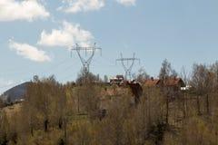 ο λόφος πόλεων στεγάζει το πάρκο λιμνών Στοκ Εικόνες