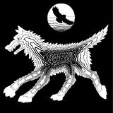 Ο λύκος και τα πρόβατα Στοκ Εικόνα