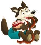 Ο λύκος κινούμενων σχεδίων Στοκ φωτογραφία με δικαίωμα ελεύθερης χρήσης