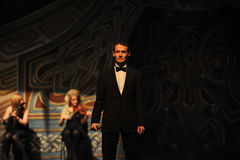 Ο Alan Thwaites και η Clancy είναι αδελφοί-Ο ιρλανδικός εθνικός χορός βρυσών χορού Στοκ Φωτογραφίες