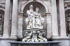 Ο Albrecht Fountain Danubius και Vindobona στη Βιέννη, Αυστρία Στοκ εικόνα με δικαίωμα ελεύθερης χρήσης