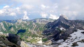 Ο alpstein-ορεινός όγκος Στοκ Φωτογραφίες