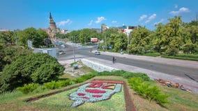 Ο Annunciation καθεδρικός ναός timelapse με, Kharkov, Ουκρανία απόθεμα βίντεο