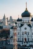 Ο Annunciation καθεδρικός ναός στο κέντρο της πόλης Voronezh, Ρωσία, στο υπόβαθρο Στοκ Εικόνες