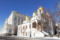 Ο Annunciation καθεδρικός ναός της Μόσχας Κρεμλίνο μια ηλιόλουστη χειμερινή ημέρα, Στοκ φωτογραφία με δικαίωμα ελεύθερης χρήσης