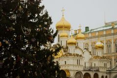 19$ο annunciation 17 ορόσημο Ουκρανία πόλεων αιώνα καθεδρικών ναών kharkov Κρεμλίνο Μόσχα Φωτογραφία χρώματος Στοκ Εικόνες