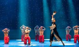 ο bellwether-μετακίνηση-κινεζικός λαϊκός χορός μπόξερ Στοκ φωτογραφία με δικαίωμα ελεύθερης χρήσης