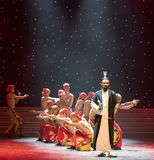ο bellwether-μετακίνηση-κινεζικός λαϊκός χορός μπόξερ Στοκ Εικόνες