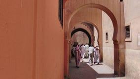 Ο Ben Youssef Madrasa, Μαρόκο στοκ εικόνα