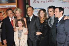 Ο Bradley Whitford & η Emma Thompson & ο Tom Hanks & η Ρίτα Wilson & ο Colin Farrell & το BJ Novak & Annie αυξήθηκαν Buckley Στοκ φωτογραφίες με δικαίωμα ελεύθερης χρήσης