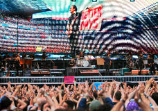 Ο Bruce, ο προϊστάμενος στη συναυλία Στοκ φωτογραφίες με δικαίωμα ελεύθερης χρήσης