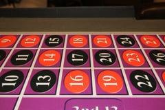 Ο craps πίνακας έχει τους αριθμούς και τα μαύρα και κόκκινα χρώματα Στοκ φωτογραφίες με δικαίωμα ελεύθερης χρήσης
