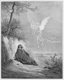Ο Elijah τρέφεται από έναν άγγελο Στοκ Εικόνα