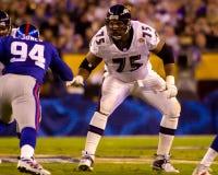 Ο Jonathan Ogden, Baltimore Ravens άφησε τον εξοπλισμό Στοκ φωτογραφία με δικαίωμα ελεύθερης χρήσης
