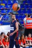 Ο Juan Carlos Navarro παίζει againts το ομάδα μπάσκετ TAU Vitoria Στοκ εικόνες με δικαίωμα ελεύθερης χρήσης