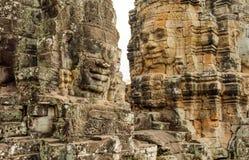 Ο Khmer ναός Bayon, Angkor Thom, Siem συγκεντρώνει, Καμπότζη Στοκ Εικόνα