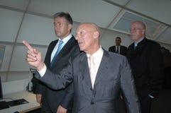 Ο Klaus Wowereit, Norman ενθαρρύνει, Dieter Lenzen Στοκ εικόνα με δικαίωμα ελεύθερης χρήσης