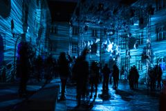 16ο mart 2018 Φεστιβάλ του Ζάγκρεμπ, Κροατία †«του φωτός στο Ζάγκρεμπ στοκ εικόνα με δικαίωμα ελεύθερης χρήσης