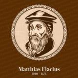 Ο Matthias Flacius 1520 †«1575 ήταν λουθηρανικός μεταρρυθμιστής από Istria Χριστιανικός αριθμός ελεύθερη απεικόνιση δικαιώματος