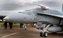 Ο McDonnell Douglas βλ.-188 Hornet στον αέρα Scampton παρουσιάζει στις 10 Σεπτεμβρίου 2017 Ενεργός βάση Βασιλικής Αεροπορίας Λινκ Στοκ Εικόνες