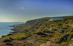 Ο megalithic ναός Mnajdra στη Μάλτα στοκ φωτογραφία με δικαίωμα ελεύθερης χρήσης