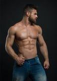 Ο Muscled αρσενικός πρότυπος Konstantin Kamynin Στοκ Εικόνα